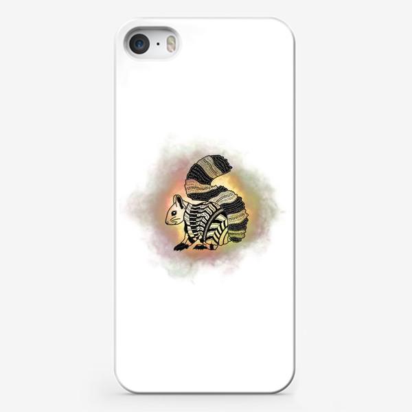 Чехол iPhone «Белка с узорами»