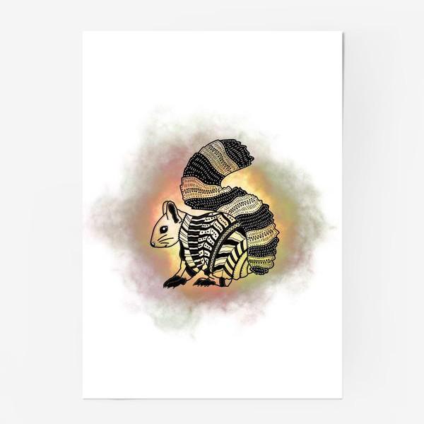 Постер «Белка с узорами»