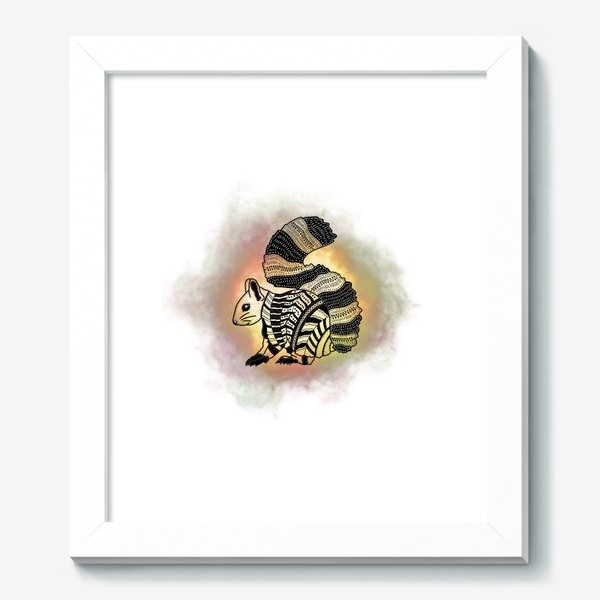 Картина «Белка с узорами»