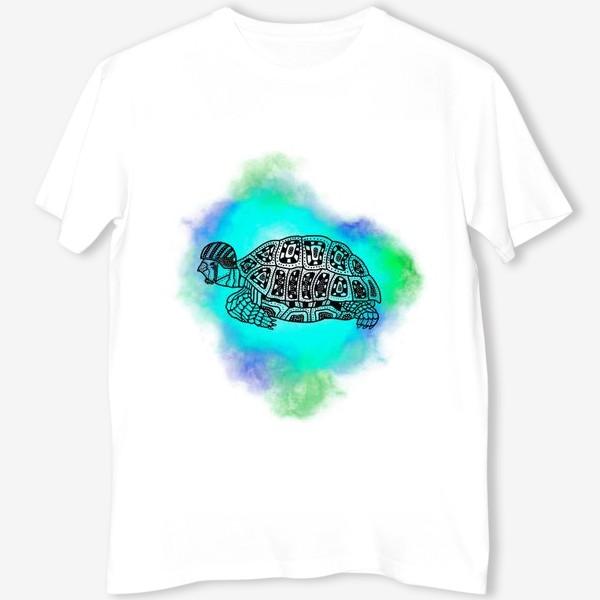 Футболка «Черепаха в каске »