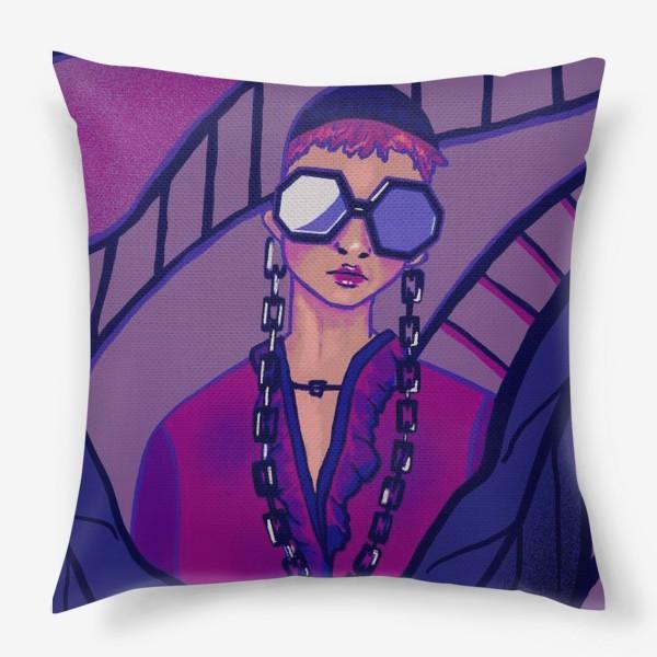 Подушка «Девушка в очках»