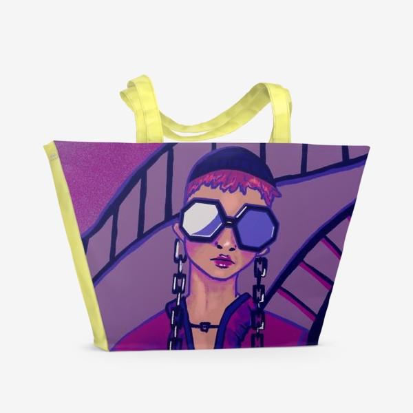 Пляжная сумка «Девушка в очках»