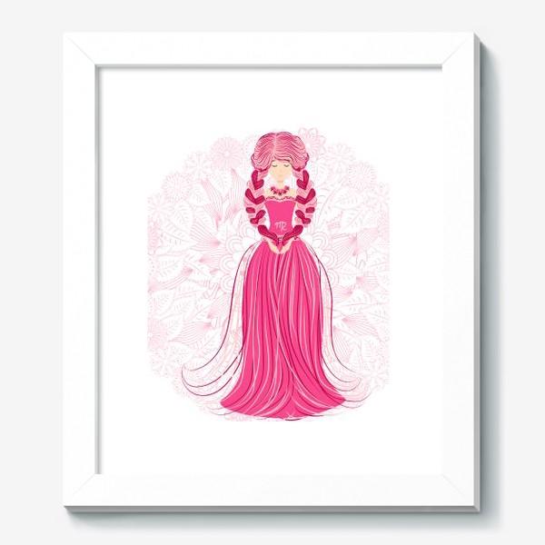 Картина «Знак зодиака Дева и цветочная мандала»