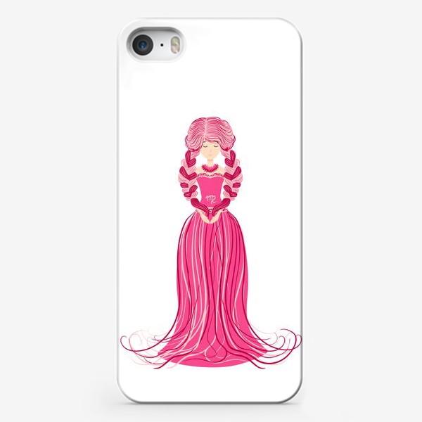 Чехол iPhone «Знак зодиака Дева, женщина с косами»