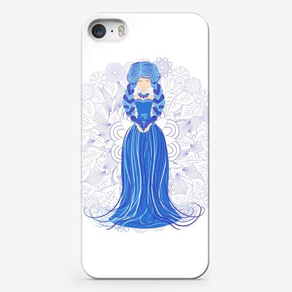 Чехол iPhone «Знак зодиака Дева и цветочная мандала»