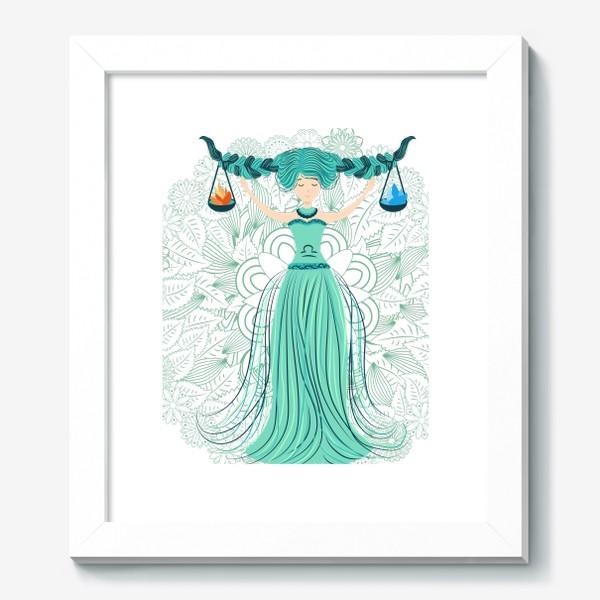 Картина «Знак зодиака Весы и цветочная мандала»