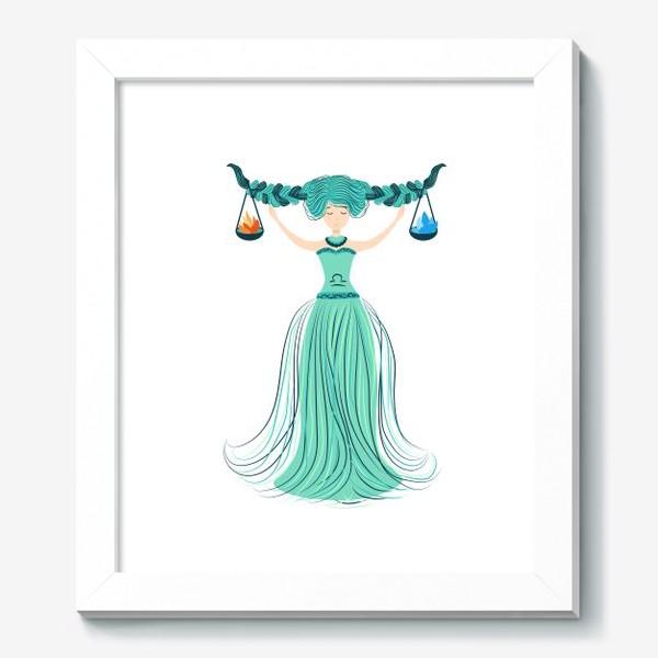 Картина «Знак зодиака Весы, огонь и вода»
