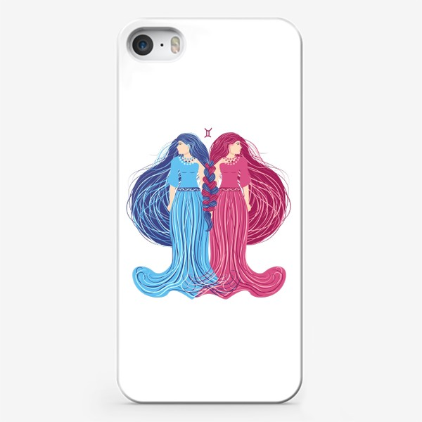 Чехол iPhone «Знак зодиака Близнецы »