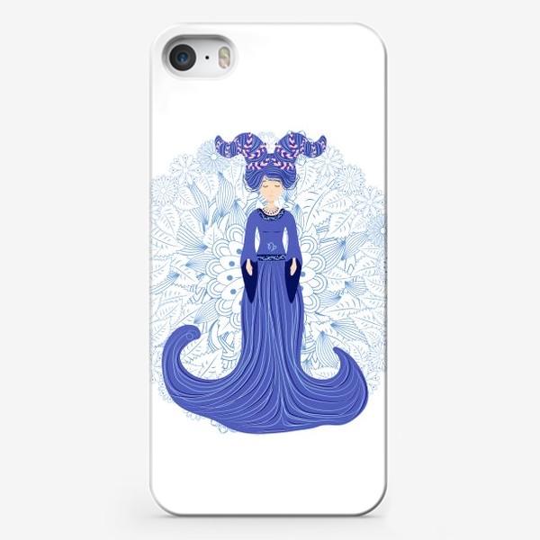 Чехол iPhone «Знак зодиака Козерог и цветочная мандала»