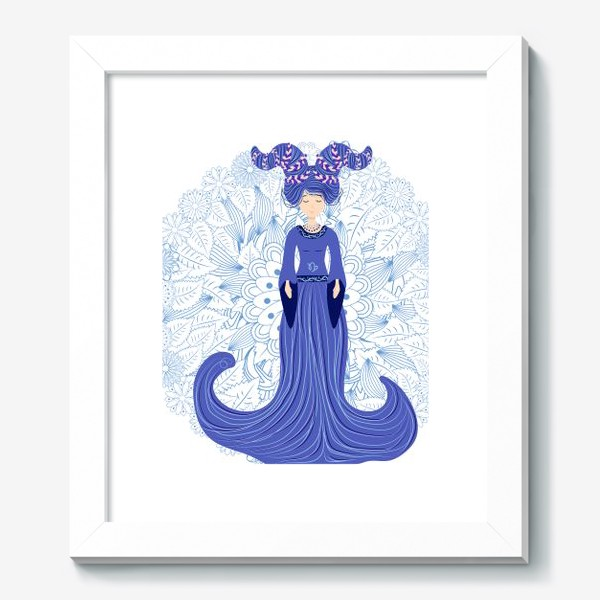 Картина «Знак зодиака Козерог и цветочная мандала»