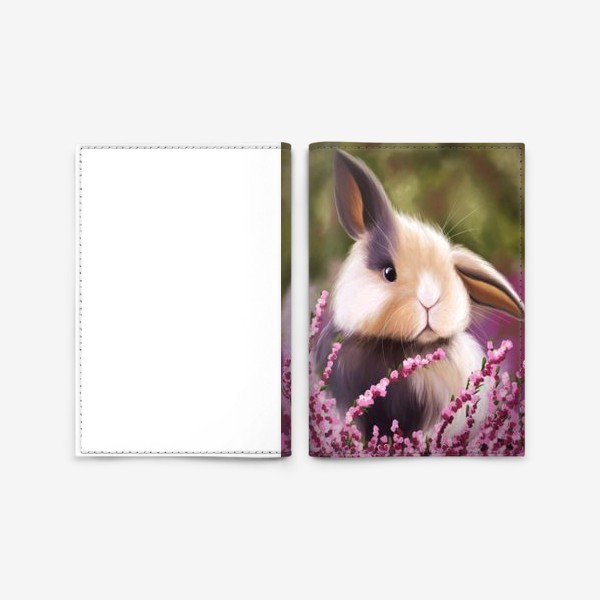 Обложка для паспорта «Пушистый кролик»