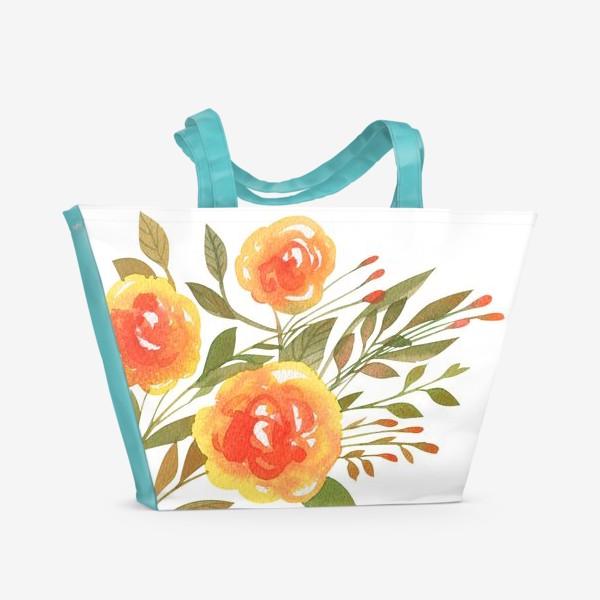 Пляжная сумка «Акварельная ветвь»