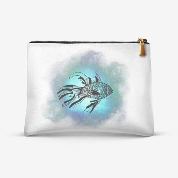 Косметичка «Рыба с узорами»