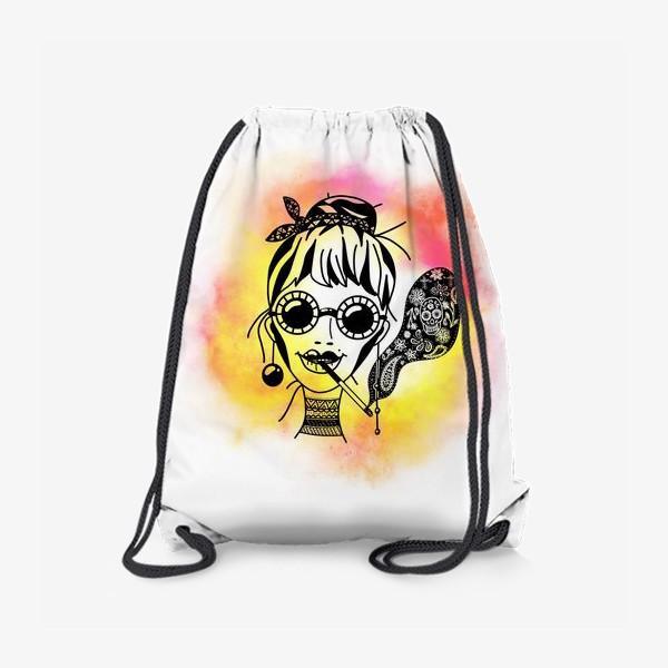 Рюкзак «Девушка в очках с сигаретой»