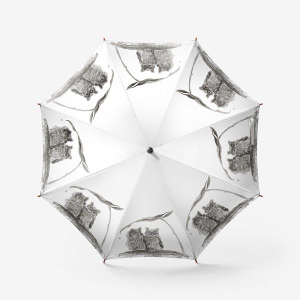 Зонт «пара сов прячется от дождя»