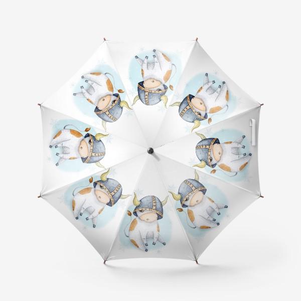 Зонт «Бычок - символ 2021 года »