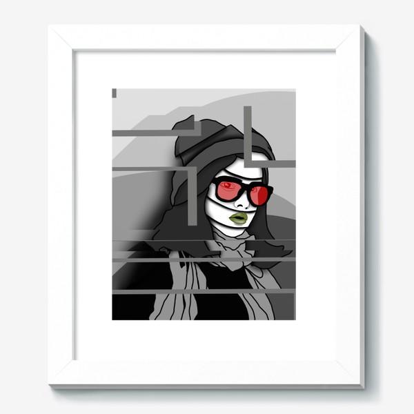 Картина «Девушка в красных очках»