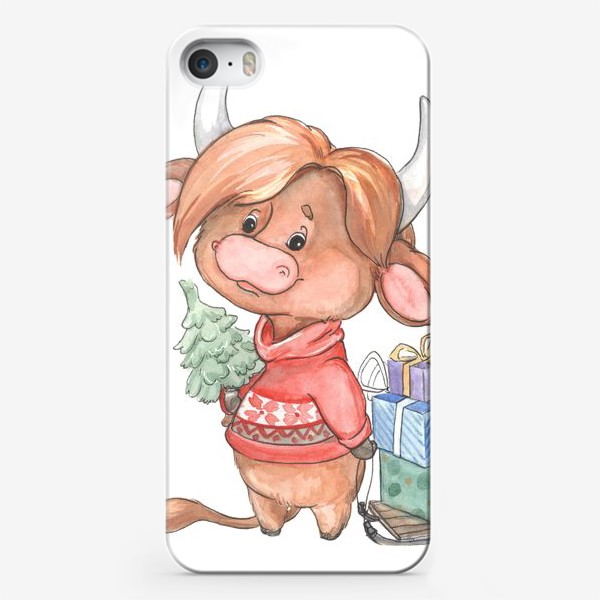 Чехол iPhone «рыжий бычок»