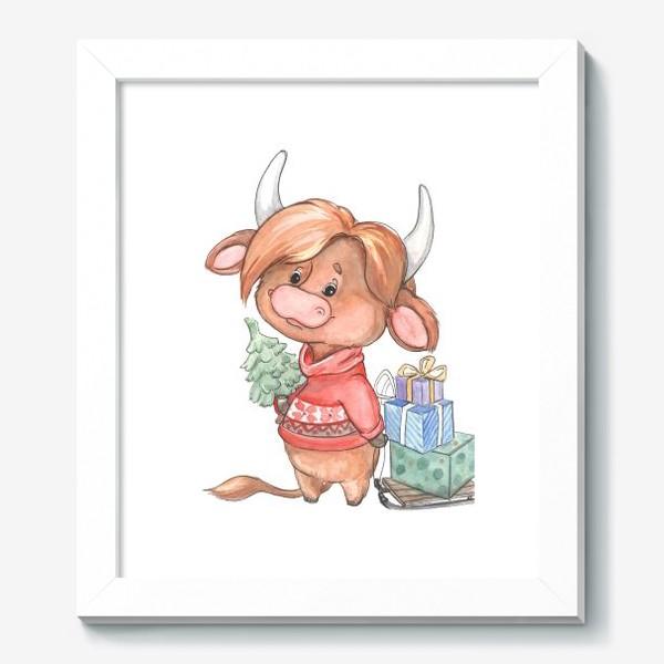 Картина «рыжий бычок»