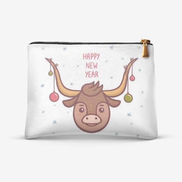 Косметичка «Милый бык. Новый год 2021»