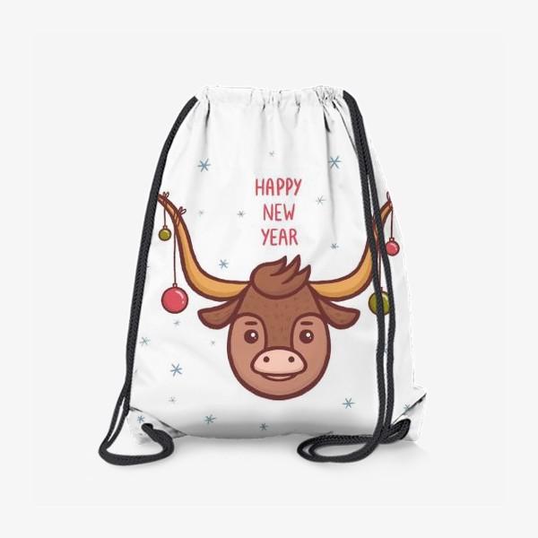 Рюкзак «Милый бык. Новый год 2021»