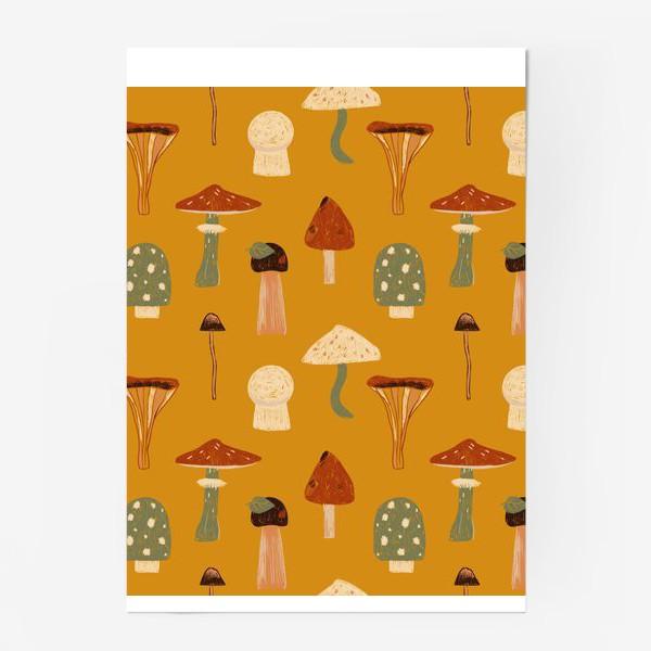 Постер «грибы»