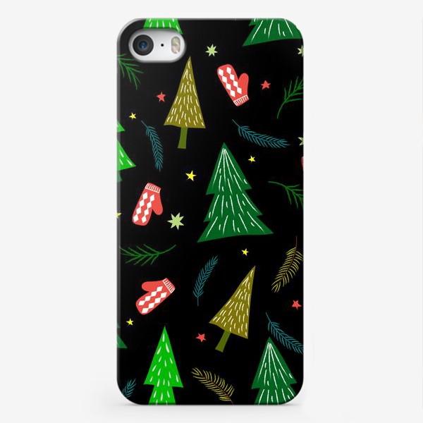 Чехол iPhone «ёлочки и варежки»