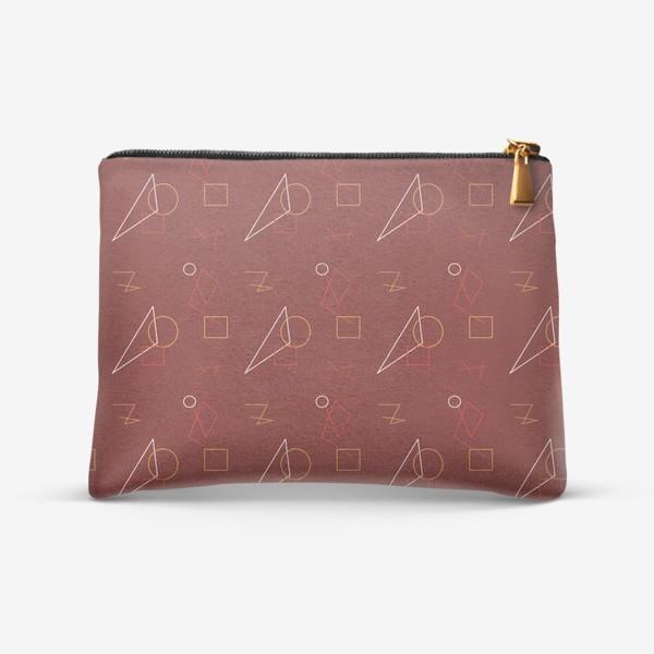 Косметичка «Абстрактный принт с геометрическими фигурами»