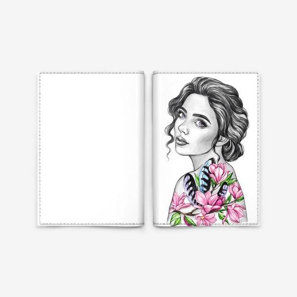 Обложка для паспорта «Девочка - весна»