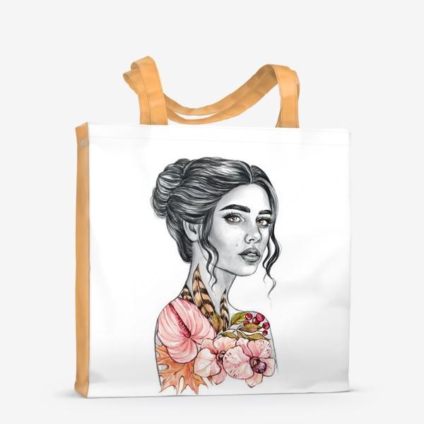 Сумка-шоппер «Девочка - осень»