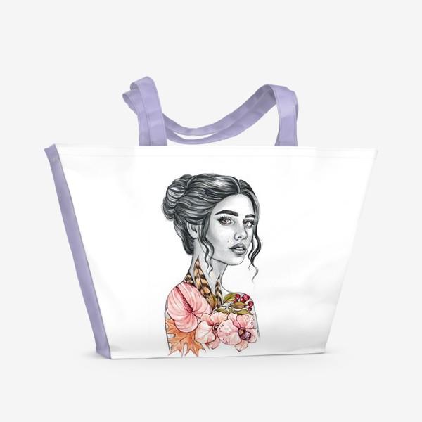 Пляжная сумка «Девочка - осень»