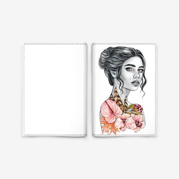 Обложка для паспорта «Девочка - осень»