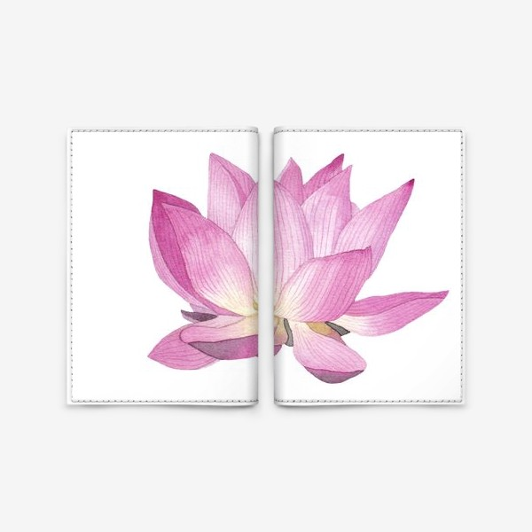 Обложка для паспорта «Цветок лотоса»