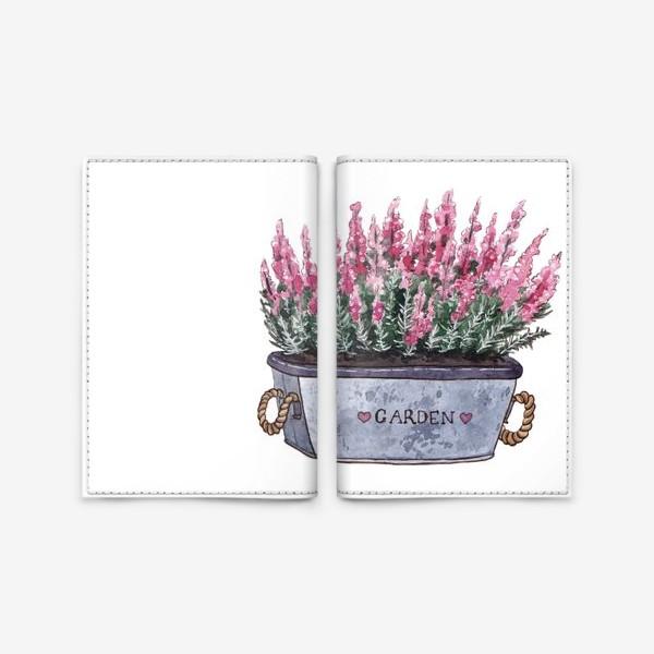 Обложка для паспорта «Прованс. Цветы в горшке»