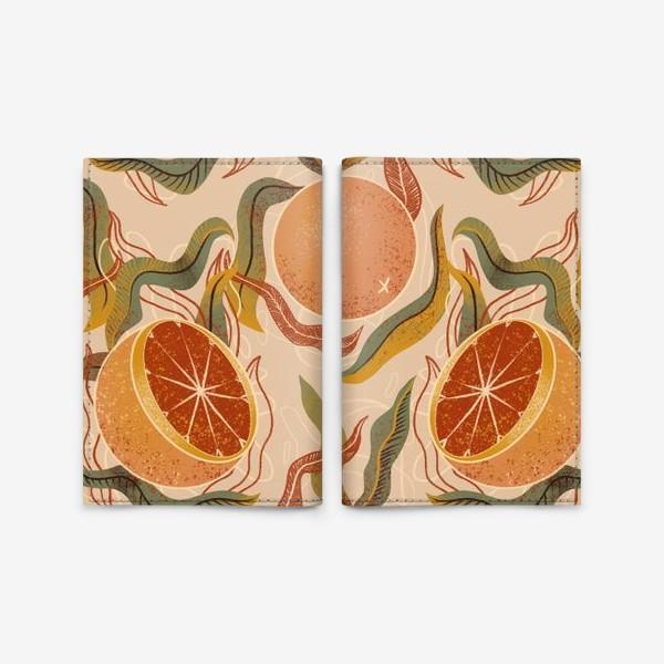 Обложка для паспорта «грейпфрут»