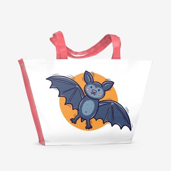 Пляжная сумка «Милая летучая мышь. Хэллоуин»