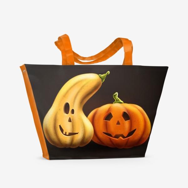 Пляжная сумка «Друзья тыквы»