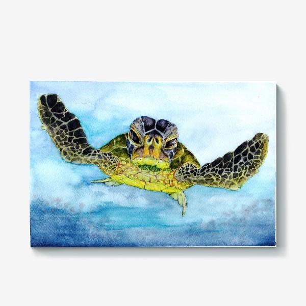 Холст «Морское приключение. Черепаха»