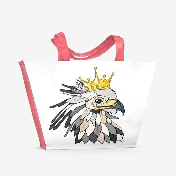 Пляжная сумка «Птица в короне»