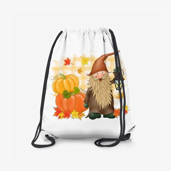 Рюкзак «Осенний гном с тыквами»