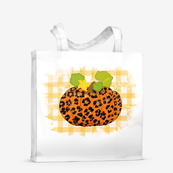 Сумка-шоппер «Леопардовый принт тыквы»