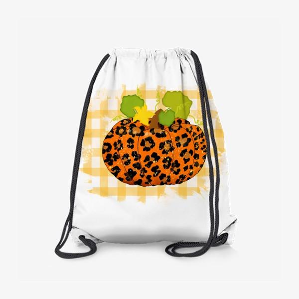 Рюкзак «Леопардовый принт тыквы»