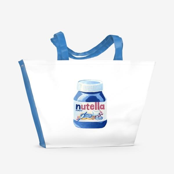 Пляжная сумка «НУТЕЛЛА»