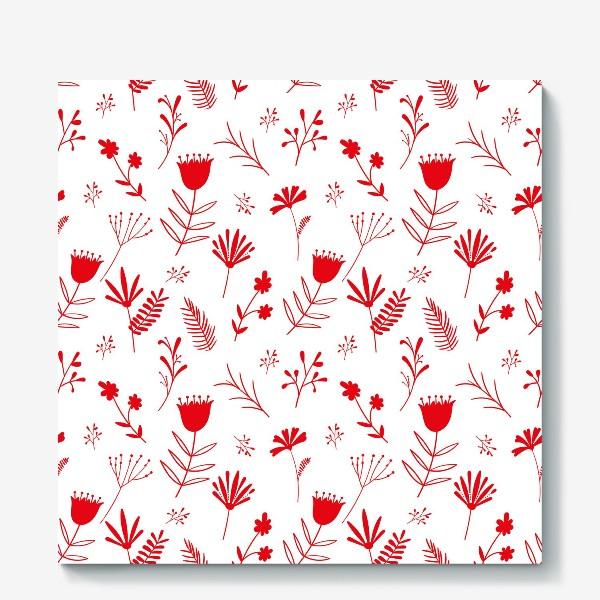 Холст «Красные цветы»