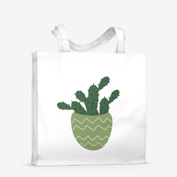 Сумка-шоппер «Мексиканский кактус в модном горшке »