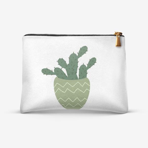 Косметичка «Мексиканский кактус в модном горшке »