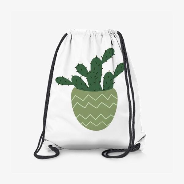 Рюкзак «Мексиканский кактус в модном горшке »