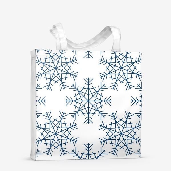 Сумка-шоппер «Синие снежинки»