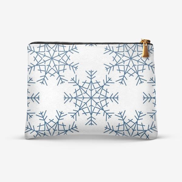Косметичка «Синие снежинки»