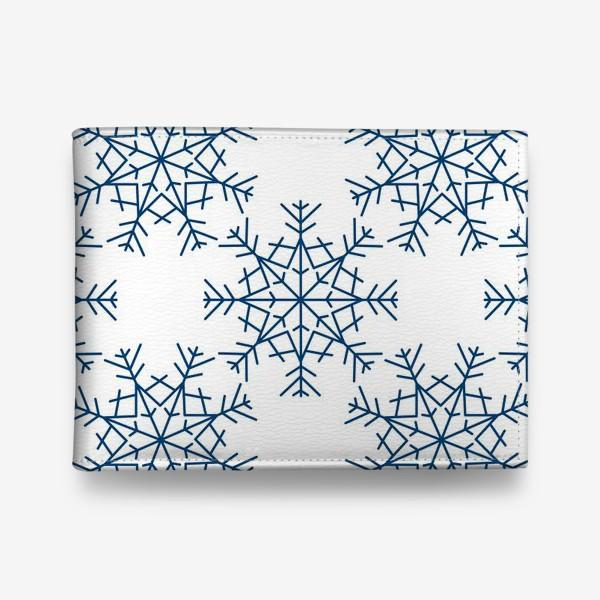 Кошелек «Синие снежинки»